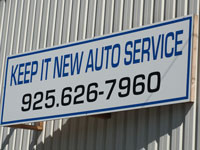 Our Sign | Keep It New Auto Service